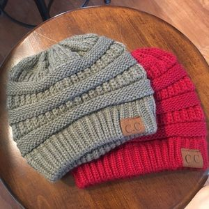 Accessories - CC Warm Chucky Stretch Cable Knit Beanie